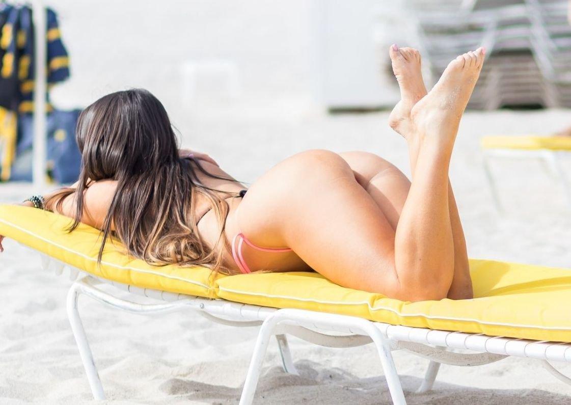 Claudia Romani Thong Bikini