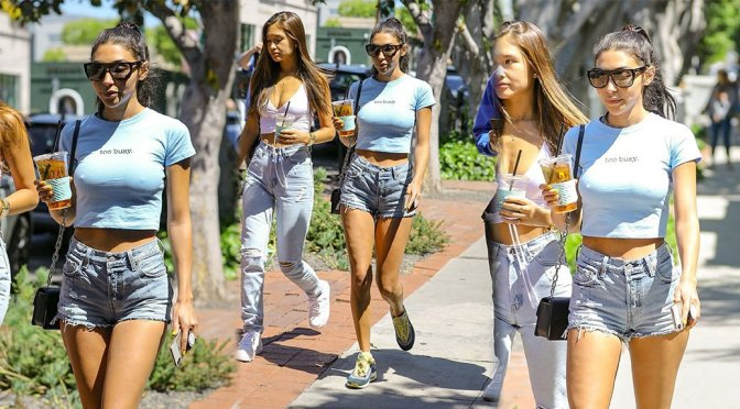 Chantel Jeffries – Braless Candids in Los Angeles