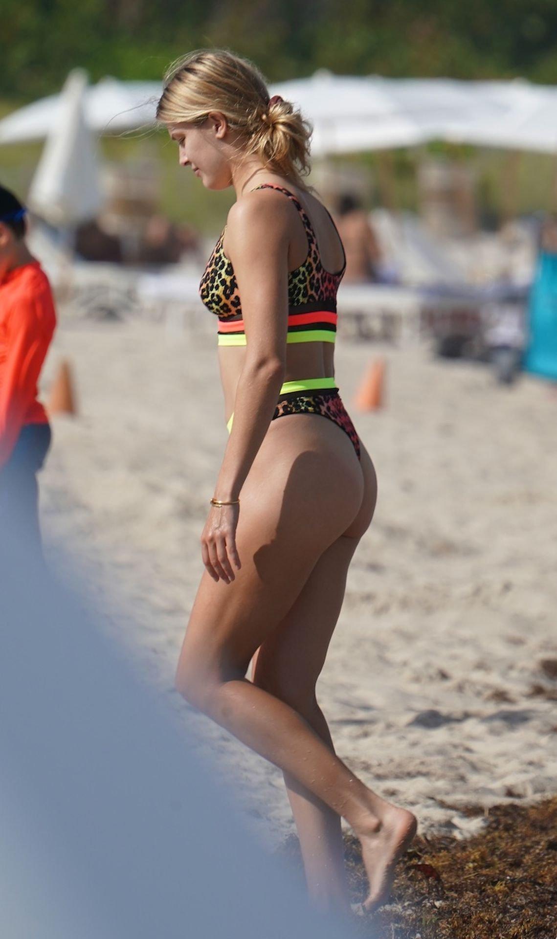 Eugenie Bouchard Thong Bikini