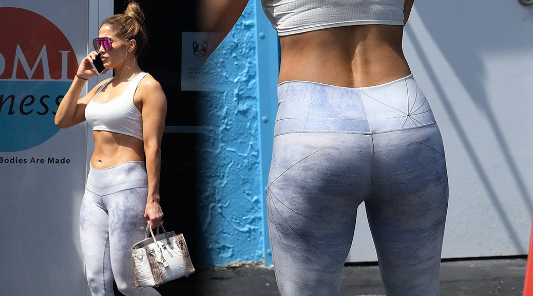 Jennifer Lopez - Sexy Ass at a gym in Miami