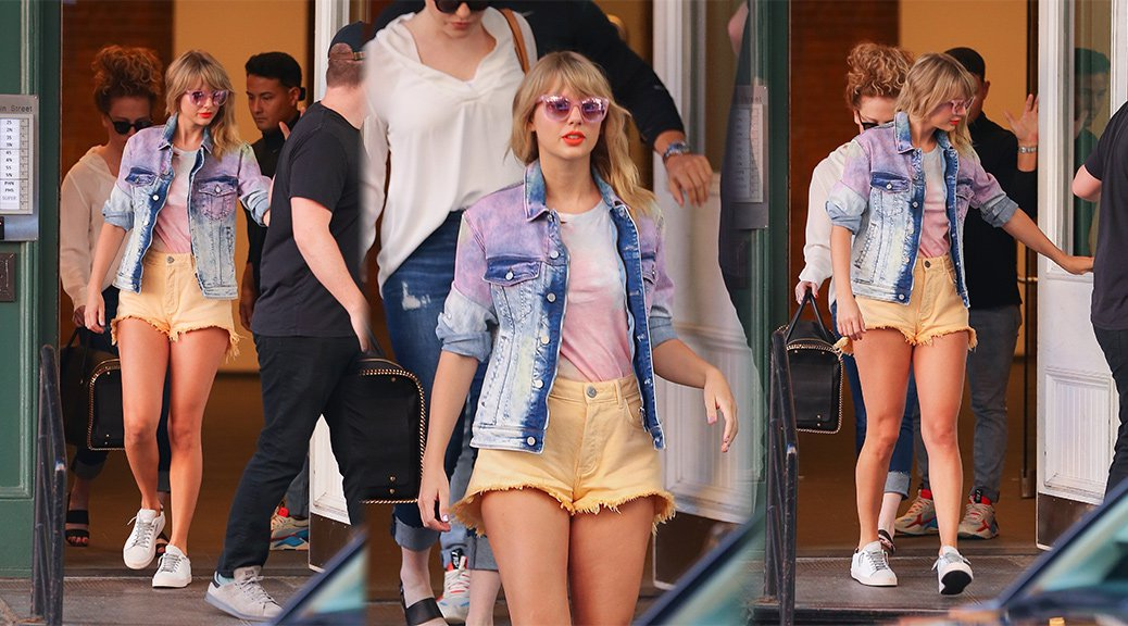 Taylor Swift - Sexy Legs in Shorts in New York