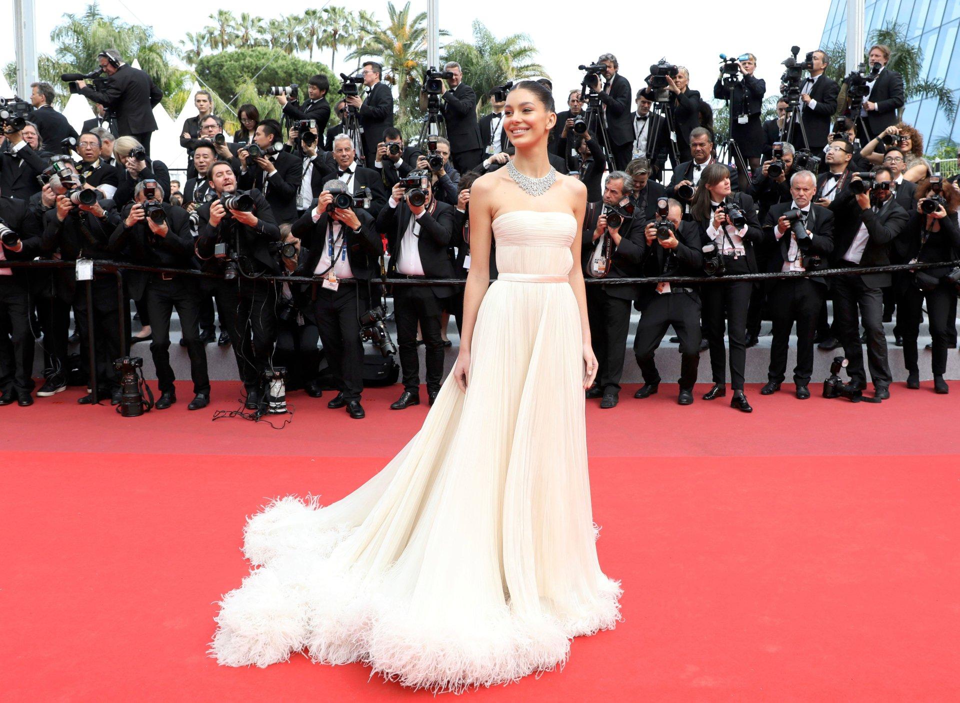 Camila Morrone Beautiful White Dress