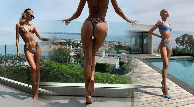 Elsa Hosk – Bikini Photoshoot in Cannes