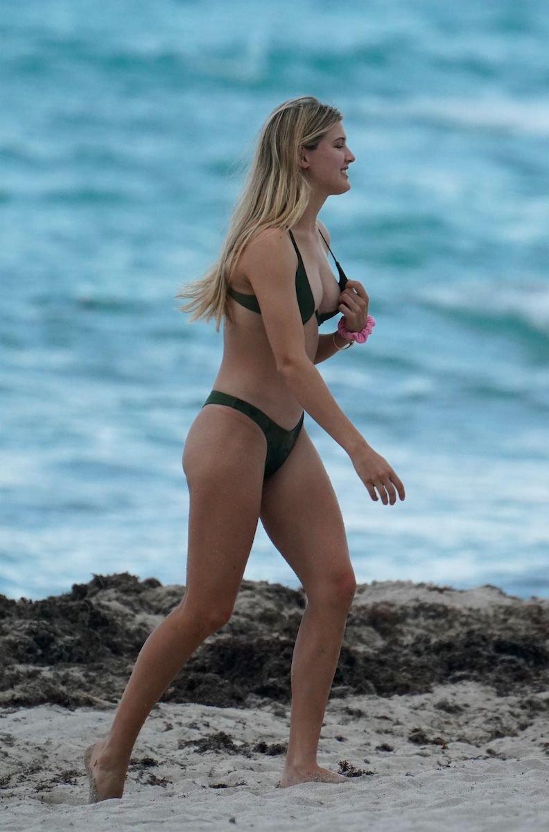 Eugenie Bouchard Sexy Thong Bikini