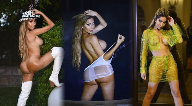 """Farrah Abraham – """"PrettyLittleThing"""" Naked Photoshoot Candids in Los Angeles (NSFW)"""