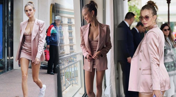 Josephine Skriver – Sexy Little Dress in Cannes