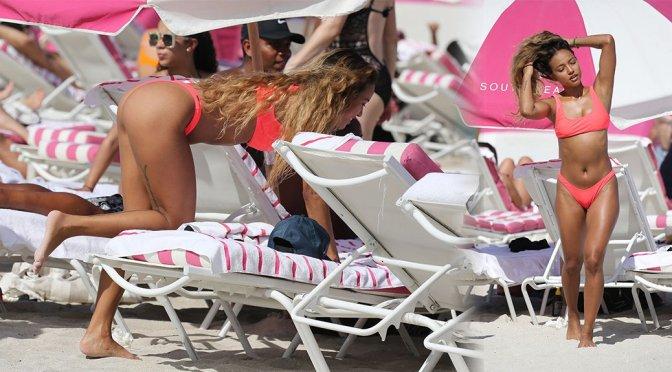 Karrueche – Sexy Thong Bikini Candids in Miami