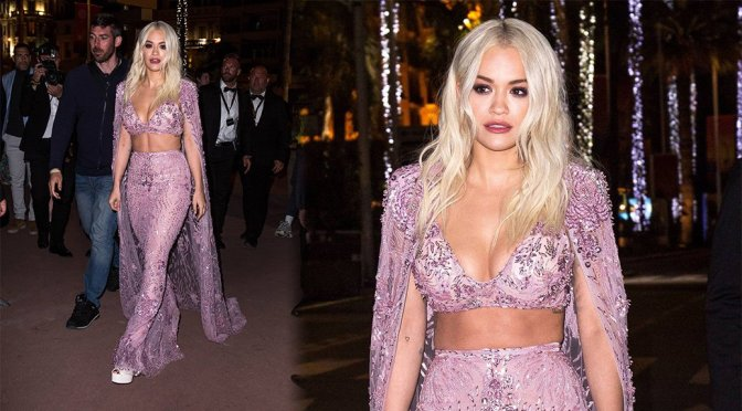 Rita Ora – Magnum Beach Party in Cannes