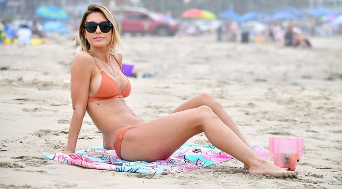 Audrina Patridge – Bikini Candids in Santa Monica
