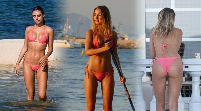 Kimberley Garner – Camel-Toe Bikini Candids in St Tropez