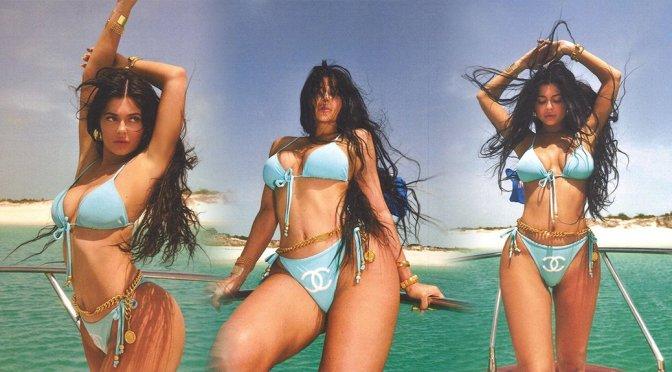 Kylie Jenner - Sexy  Blue Bikini Photoshoot