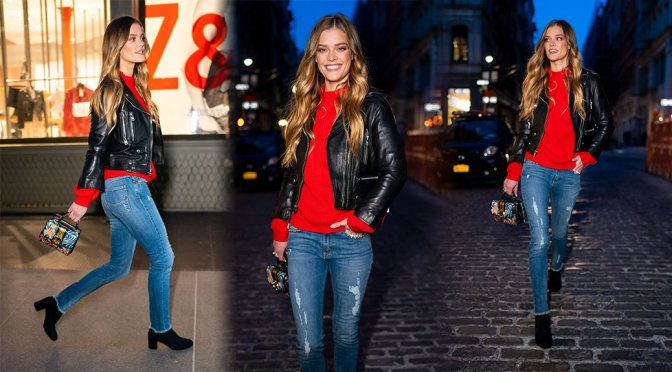 Nina Agdal – Sexy Candids in New York