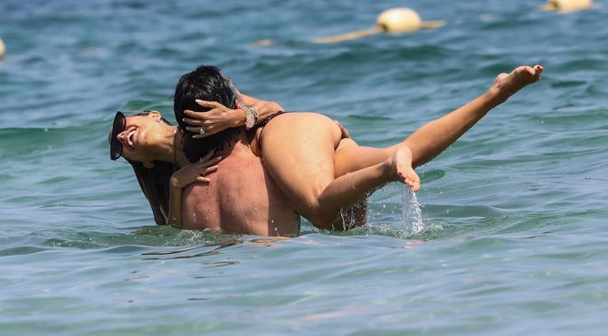 Sylvie Meis – Sexy Bikini Candids on the Beach in Saint Tropez