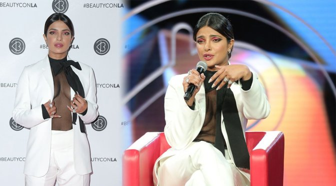 Priyanka Chopra – Braless at Beautycon Festival in Los Angeles