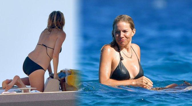 Sienna Miller – Bikini Candids on a Boat in St. Tropez