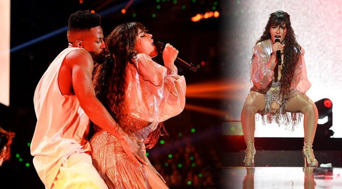 Camila Cabello Performing at the iHeartRadio Festival in Las Vegas