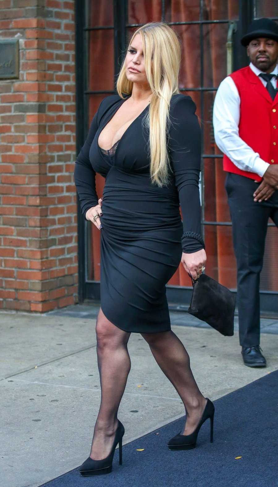 Jessica Simpson - Sexy Huge Boobs Candids in New York ...