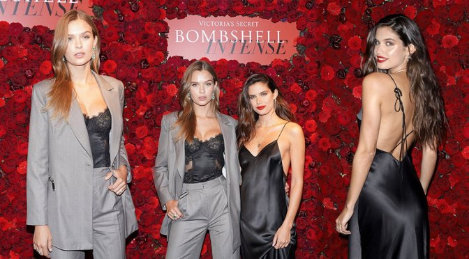 Josephine Skriver & Sara Sampaio – Victoria's Secret The Bombshell Intense Launch Party