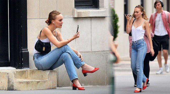 Lily-Rose Depp – Sexy Braless Candids in New York