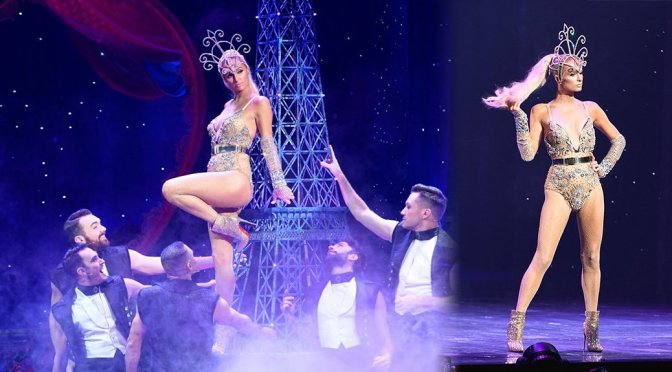 Paris Hilton Performs In Lingerie