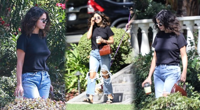 Selena Gomez – Braless Candids in Los Angeles