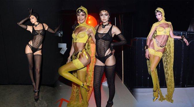 Bella & Gigi Hadid at the Savage X Fenty Fashion Show in New York