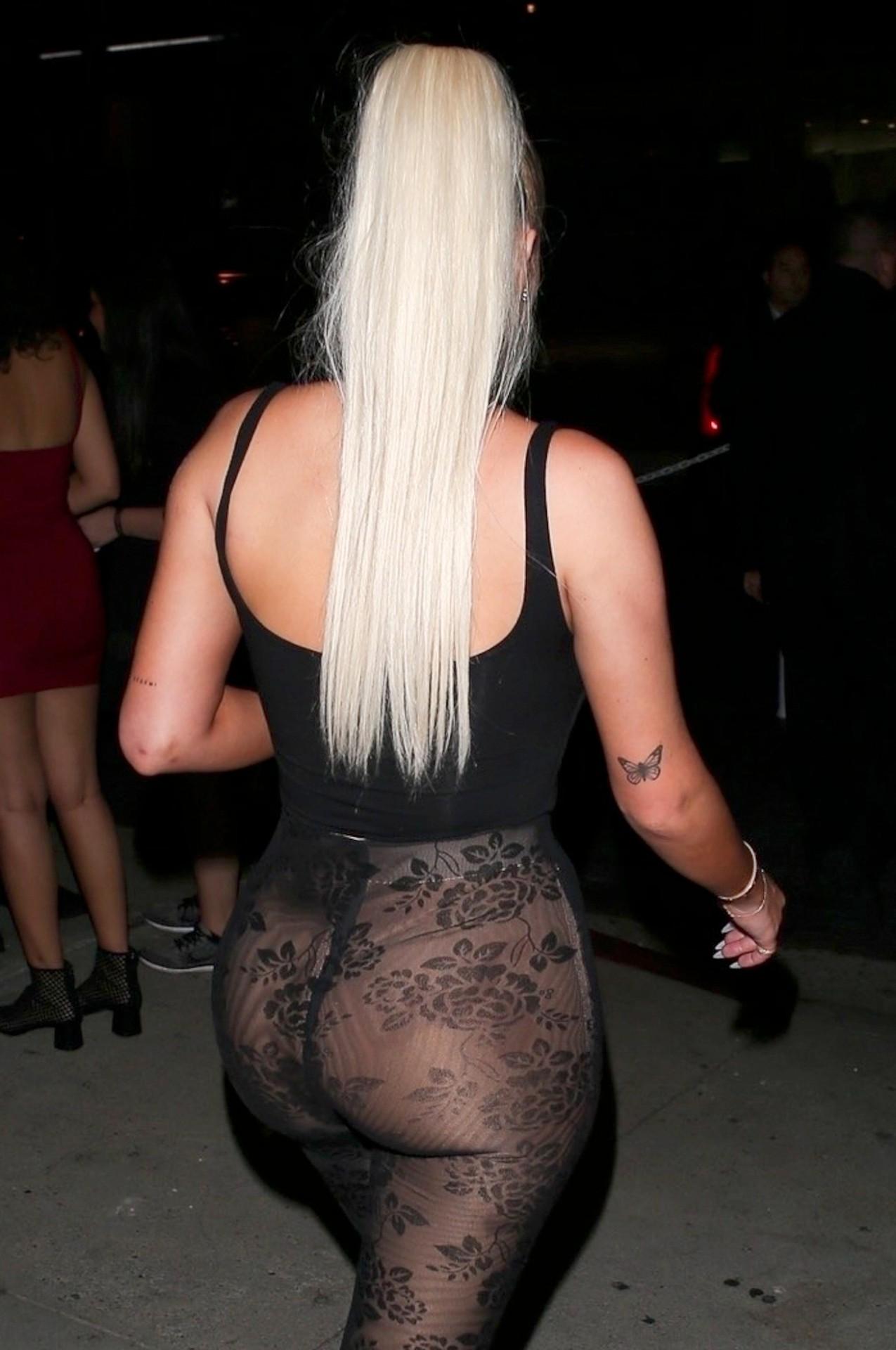 Anastasia Karanikolaou Sexy Sheer Pants