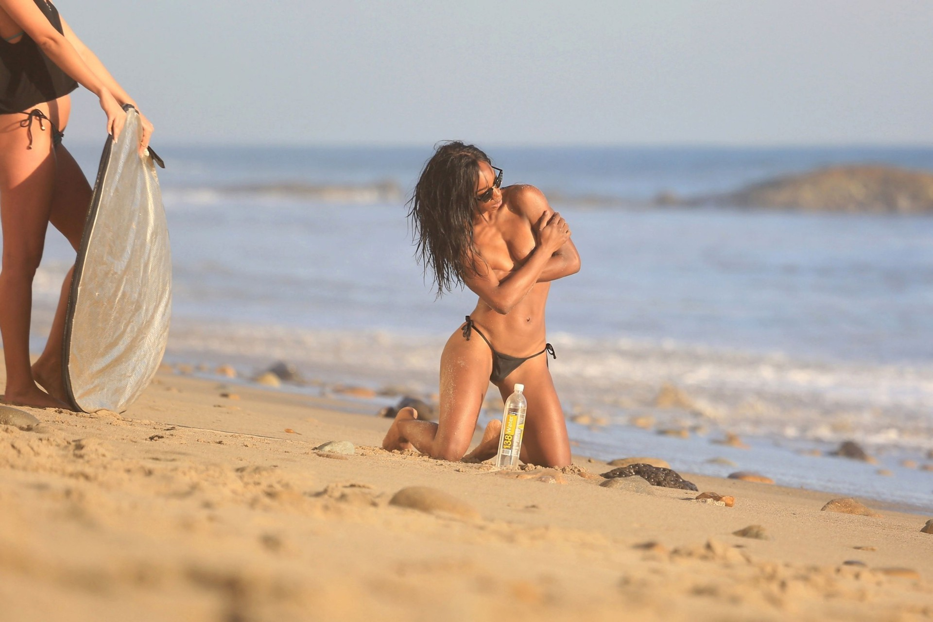 Adrianne Nina Sexy Ass Thong Bikini