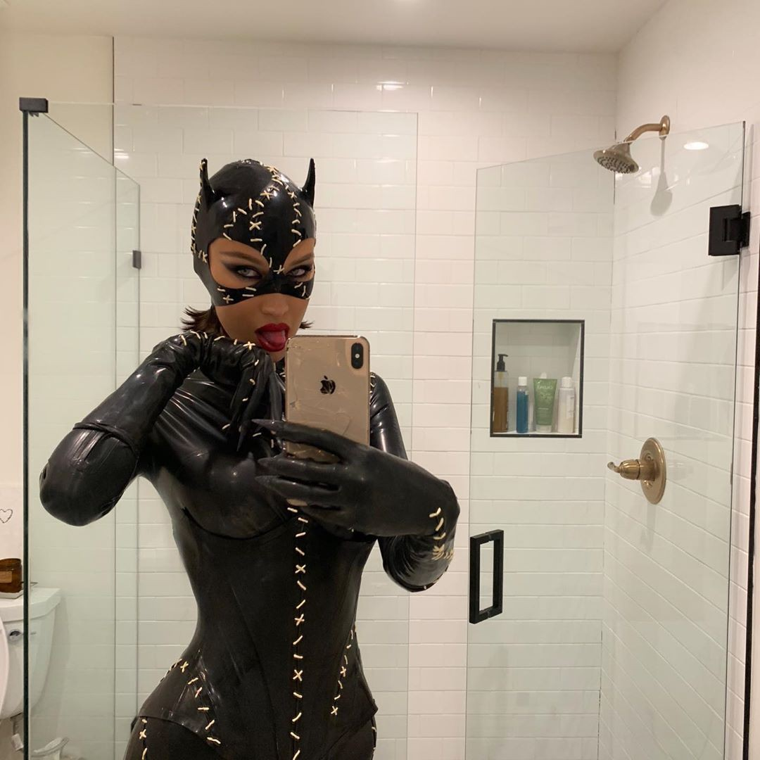 Bella Hadid Sexy Catwoman