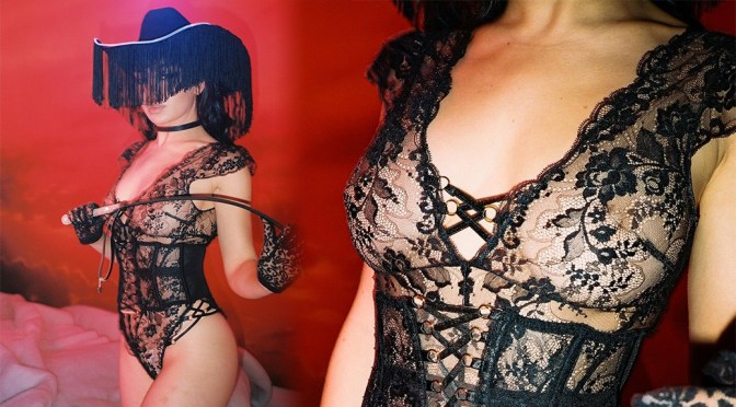 Charli XCX - Sexy SHeer Black Lingerie Photoshoot