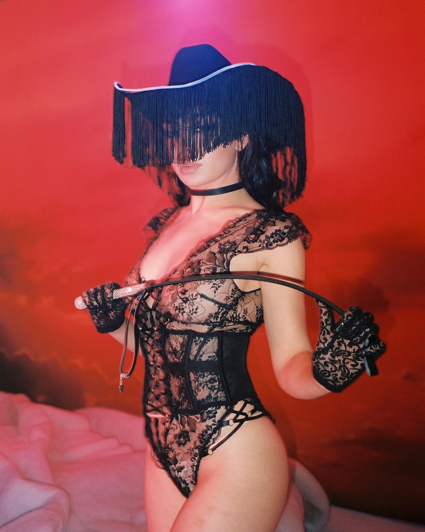 Charli Xcx Sheer Black Lingerie