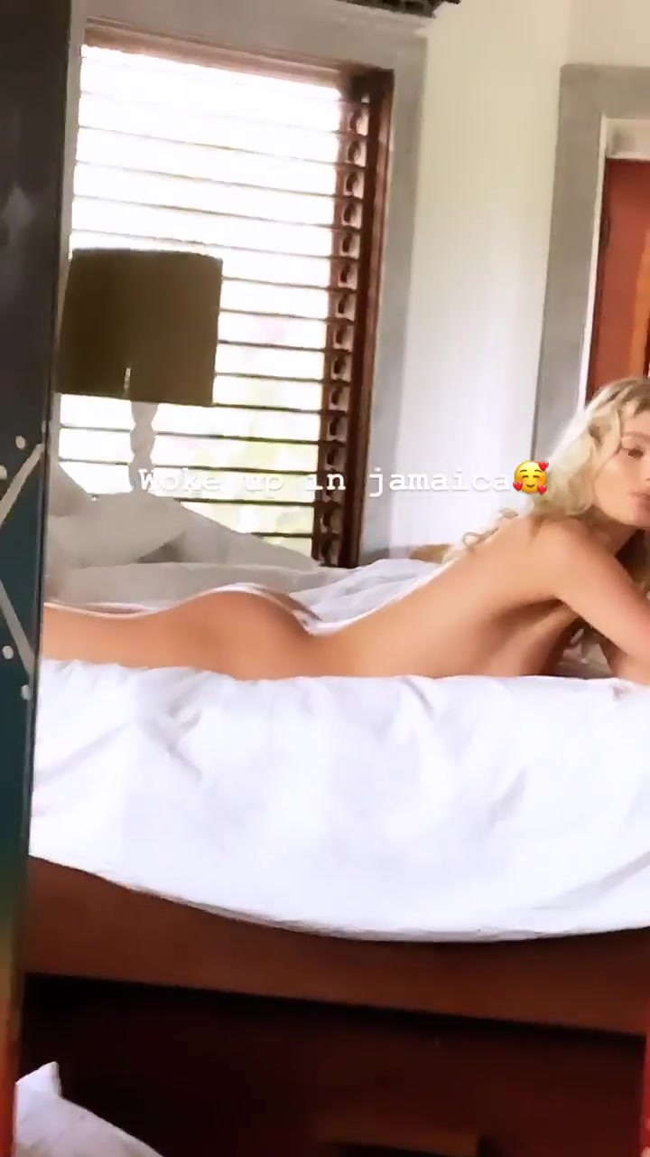 Elsa Hosk Naked On Bed