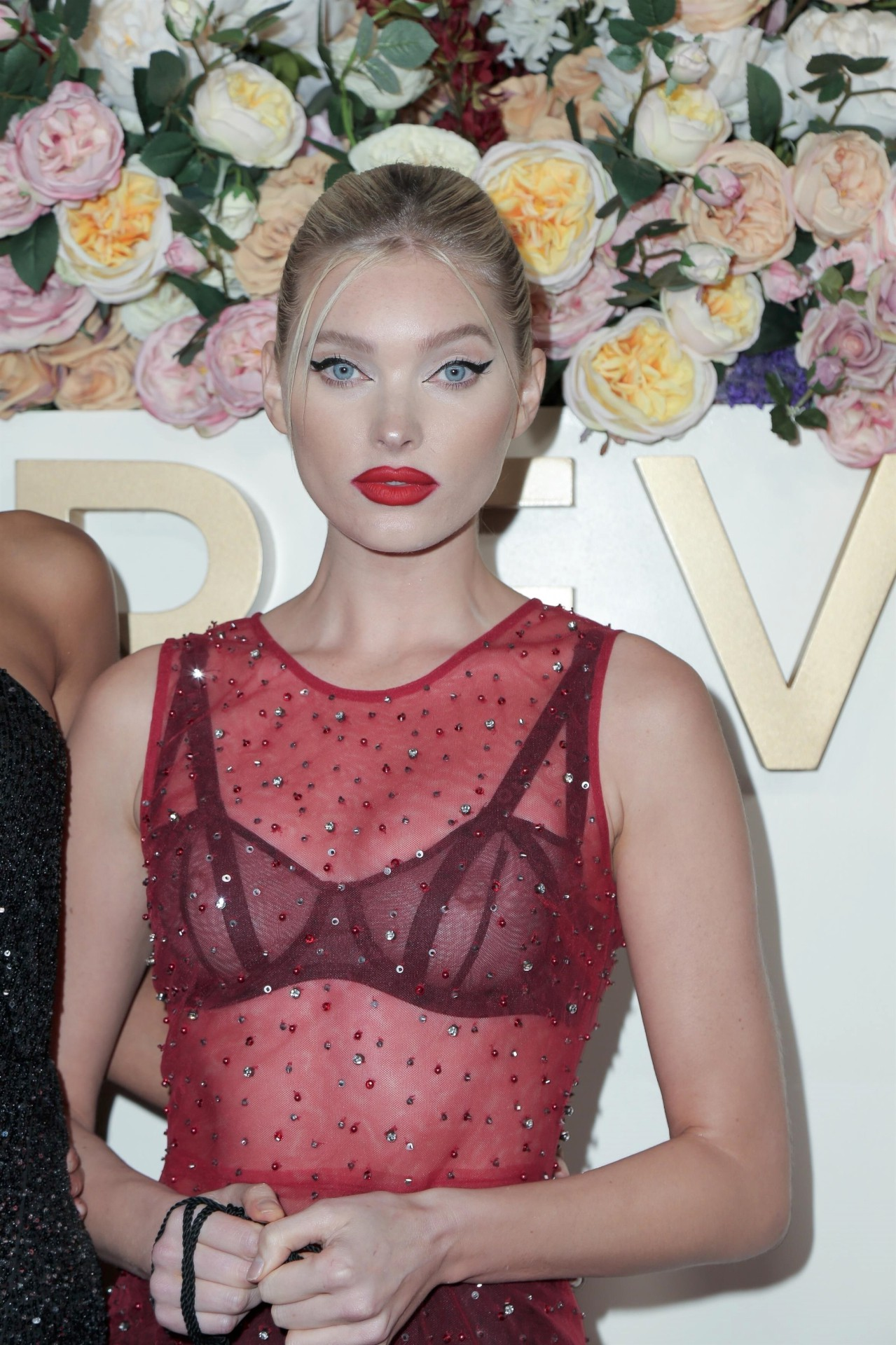 Elsa Hosk See Through Bra