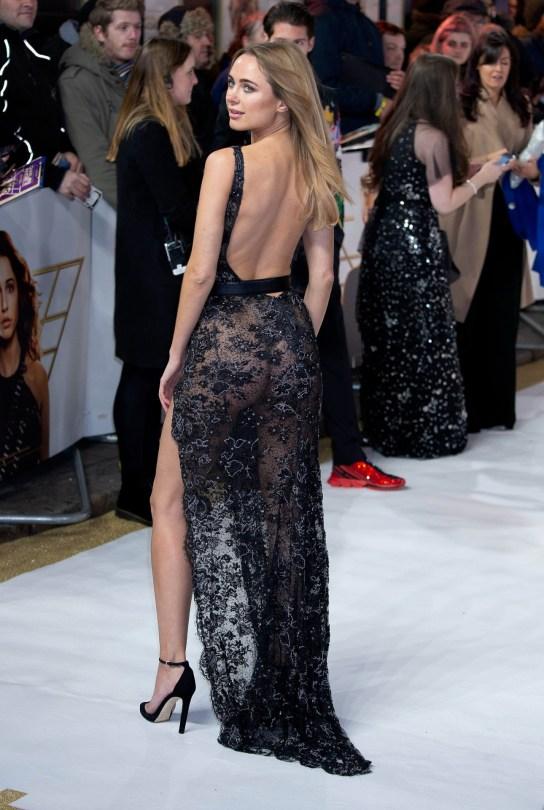 Kimberley Garner Sexy Sheer Dress