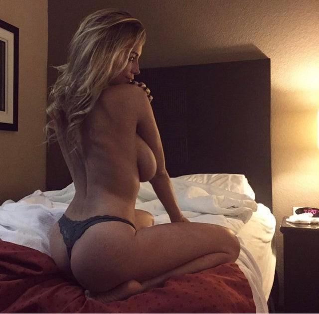 Lindsey Pelas Black Thong And Topless Boobs