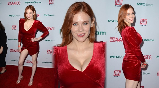Maitland Ward – Sexy Big Boobs at Adult Video News Awards Nominations in Hollywood
