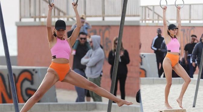 Shanina Shaik Sexy Workout Photoshoot