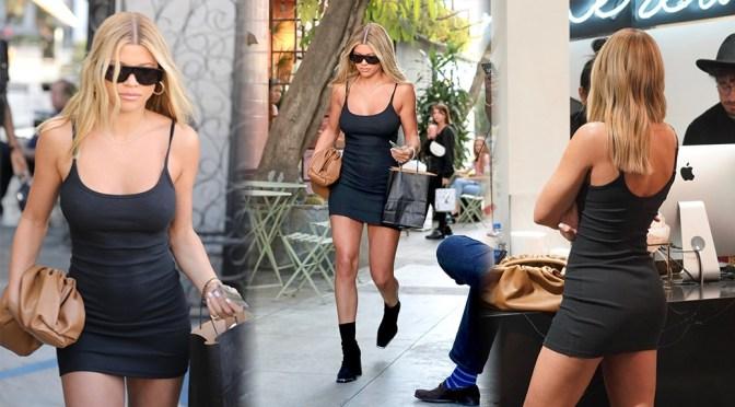 Sofia Richie – Sexy Little Black Dress at Nine Zero One Salon in West Hollywood