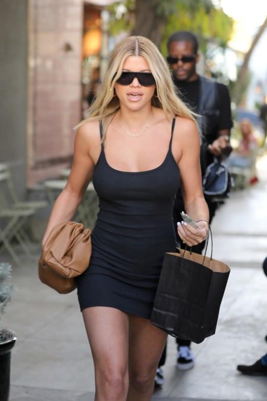 Sofia Richie Sexy Little Black Dress