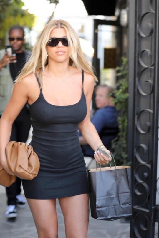Sofia Richie Sexy Little Black Dress