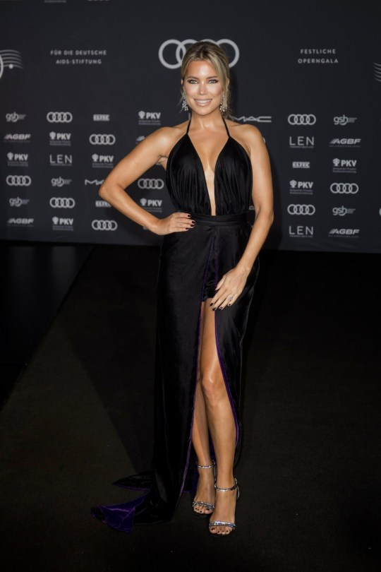 Sylvie Meis Sexy Black Dress