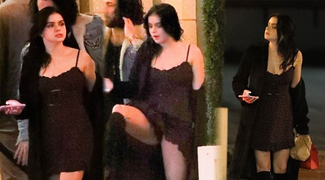 Ariel Winter – Sexy Upskirt at Delilah in West Hollywood