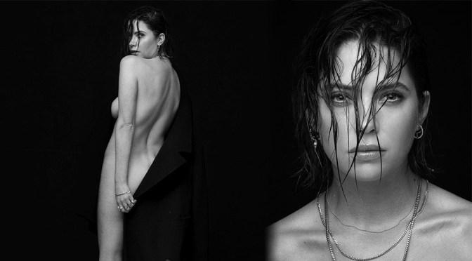 Ashley Benson – Naked Side-Boob Photoshoot by Nicholas Maggio