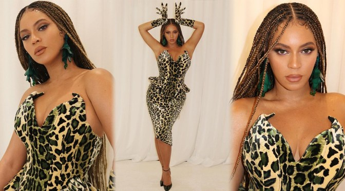 Beyonce – Sexy Body in Leopard Printed Dress