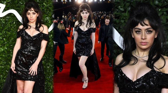 Charli XCX – Sexy Legs and Big Cleavage at Fashion Awards 2019 in London