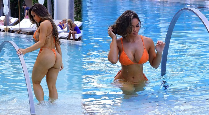 Daphne Joy – Sexy Big Boobs and Ass in Skimpy Thong Bikini