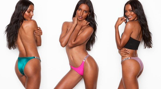 Jasmine Tookes – Sexy Braless Victoria's Secret Lingerie Photoshoot