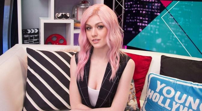 Katherine McNamara – Sexy Cleavage at Young Hollywood Studios in Los Angeles