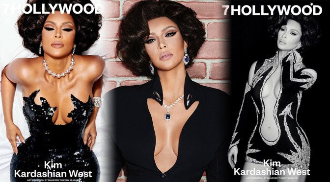 Kim Kardashian – Big Boobs in 7Hollywood  Magazine Photoshoot (Winter 2020)