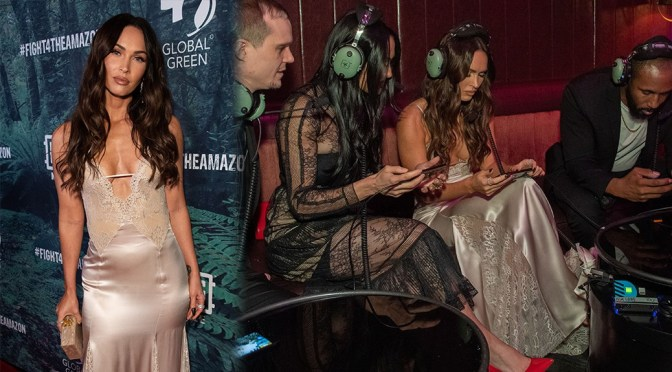 Megan Fox – Sexy Braless Cleavage at PUBG Mobile's #FIGHT4THEAMAZON Event in Los Angeles